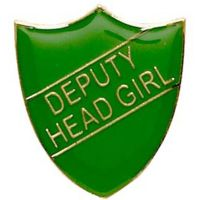 ShieldBadge Deputy Head Girl Green</br>SB021G